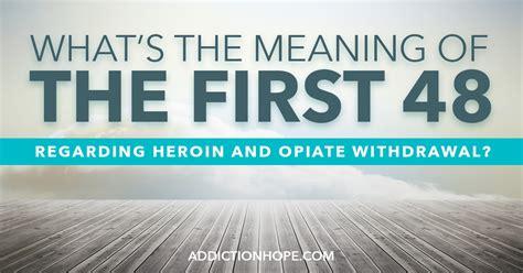 heroin  opiate withdrawal  long