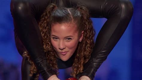 america s got talent 2016 audition sofie dossi teen balancer shoots a bow with her feet youtube