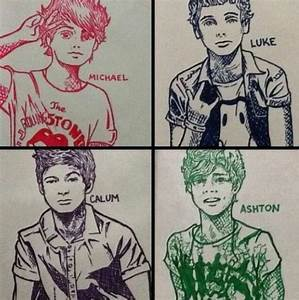 5sos fan art this is really good | Lukeys girls ...