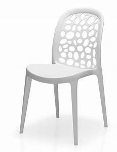 Chaise Design Blanche : chaise design pas ch re lot de 4 sofamobili ~ Teatrodelosmanantiales.com Idées de Décoration