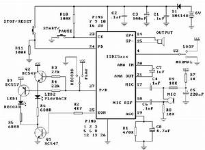 Isd25120 Voice Record Playback Circuit Circuit Diagram World