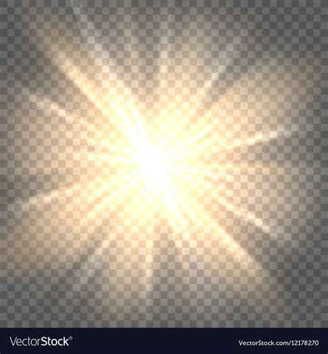 Image With Transparent Background Sun Rays On Transparent Background Royalty Free Vector Image
