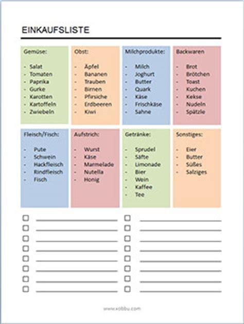 einkaufsliste erste wohnung einkaufsliste einkaufszettel vorlagen zum ausdrucken