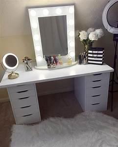 Coiffeuse Blanche Ikea : 25 best ideas about makeup tables on pinterest dressing tables dressing table inspiration ~ Teatrodelosmanantiales.com Idées de Décoration