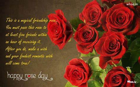 magical friendship quote happy rose day