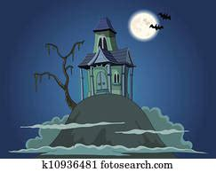 haunted house clipart hntdhse fotosearch