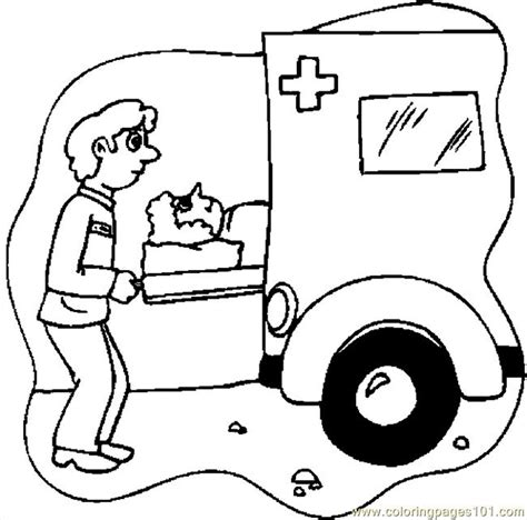 ambulance driver  coloring page  special transport