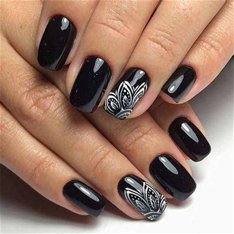 black nail designs 18 awesome winter black nails designs ideas 2016