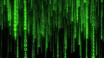 Code Numbers Matrix Binary Background Glow Ultrawide