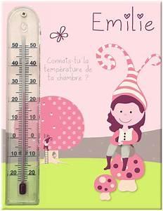 Cadre thermomètre pour chambre bébé fille