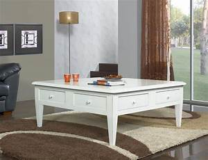 Table Basse 100x100 : table basse 100x100 iris en merisier de style directoire ivoire patin et us meuble en ~ Teatrodelosmanantiales.com Idées de Décoration
