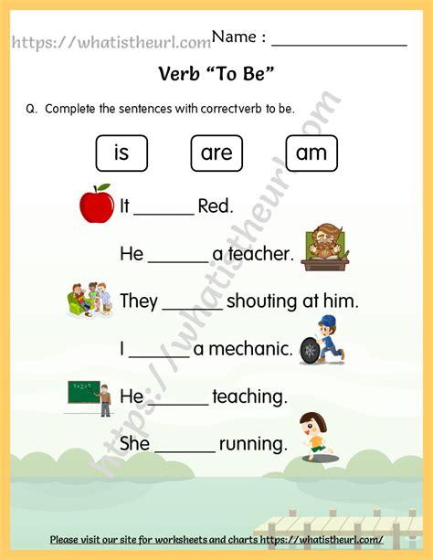 verb   worksheets  grade    home teacher