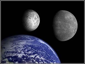 Earth, Mercury and the Moon | Comparison size: Moon ...