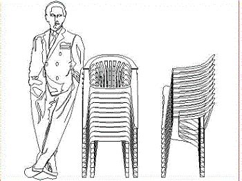 stacked plastic chairs  dwg block  autocad designs cad