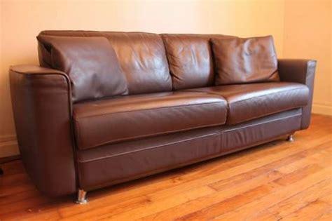 canapé lit cassiopée steiner cuir marron meubles