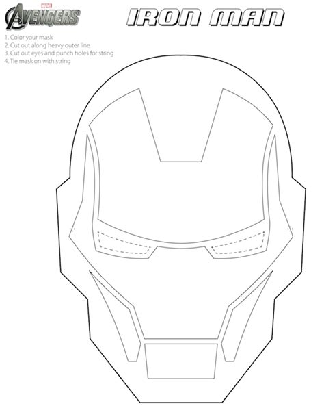 iron mask template free printable masks for iron mask to color costumes