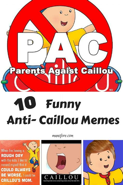 Caillou Memes - caillou the annoying memes plus friday frivolity munofore