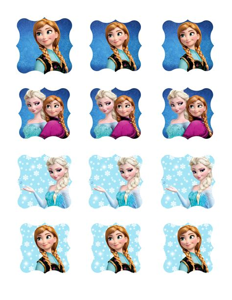 frozen party printable package toppers  labels
