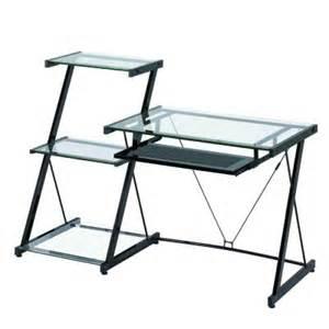 z line designs black finished nero computer desk and 3 shelf bookcase zl2021dbu the home depot