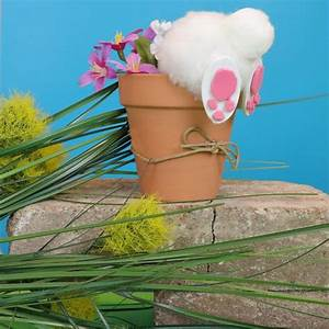 crafts how to make a bunny in a flower pot