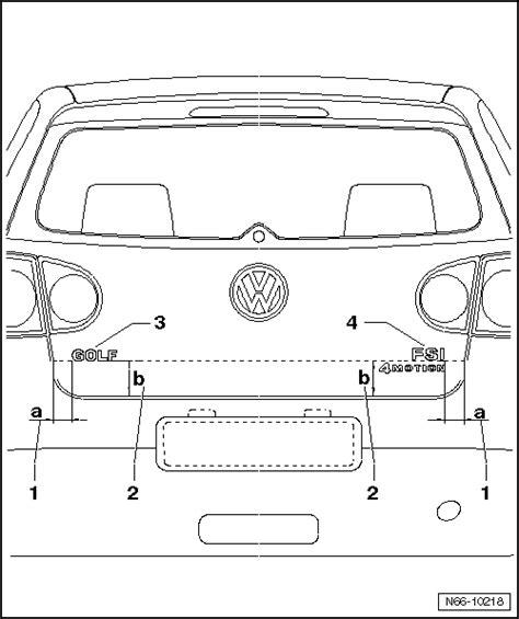 volkswagen workshop manuals gt golf mk5 gt gt general repairs exterior gt exterior