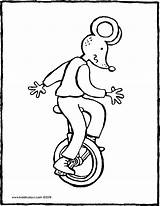 Unicycle Riding Colouring Thomas Kiddicolour Bicycle Drawing Pages sketch template