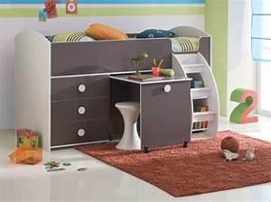 Lit Avec Bureau : rangement de lit bebe ~ Teatrodelosmanantiales.com Idées de Décoration