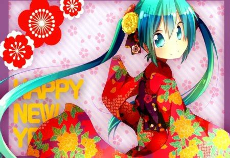 Anime New Year Wallpaper - happy new year wishes you miku other anime