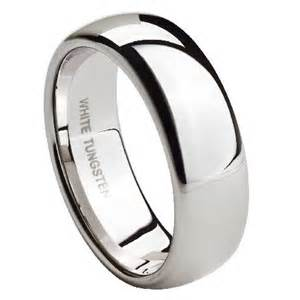 tungsten wedding band mens white tungsten wedding band polished