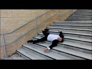 Stair fall down three flights of stairs - YouTube