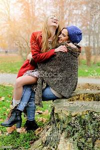 Two Stylish Hipster Girls Having Fun In Nature Stock Photo - Download Image Now - iStock