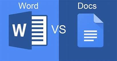 Word Google Vs Docs Microsoft Comparison Doc
