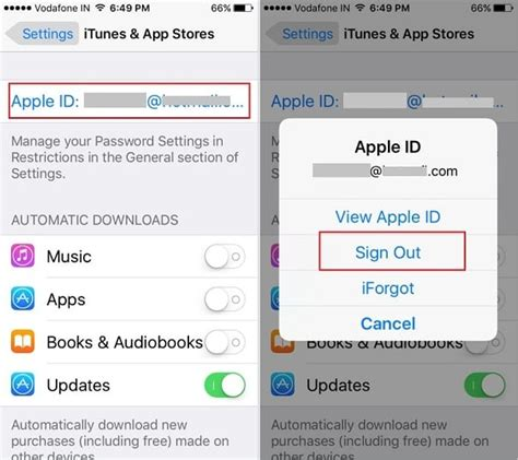 how to remove itunes account from iphone different ways to logout apple id on iphone ipod ios 9