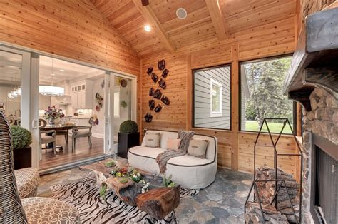 decorating ideas  knotty pine living room