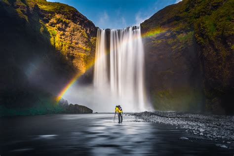 Waterfall Rainbow Landscape Free Photo  Iso Republic