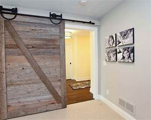 51 awesome sliding barn door ideas home remodeling With best brand of paint for kitchen cabinets with construction themed wall art