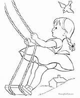 Coloring Swing Rope Raisingourkids sketch template