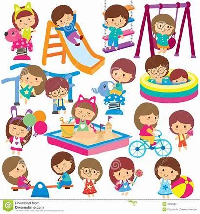 Activities Clipart Clip Playground Summer Leisure Vector
