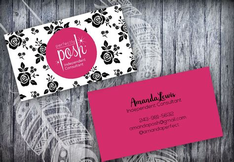 perfectly posh business card template  arts arts