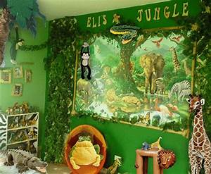 Jungle themed bedroom for kids rilane