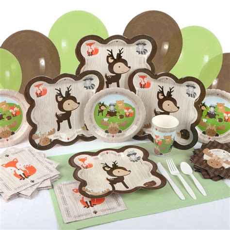 Woodland Critters Tableware: Plates Napkins & Cut with