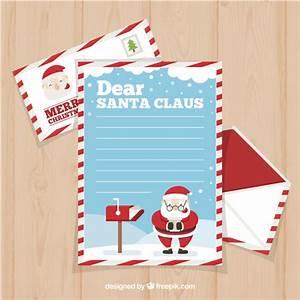 dear santa claus letter template in flat design vector With dear santa claus letter