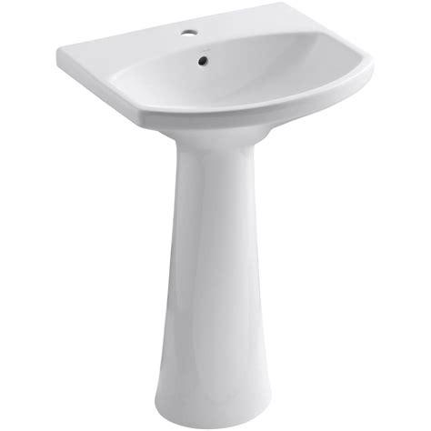 kitchen sink and faucet combo kohler cimarron single vitreous china pedestal combo