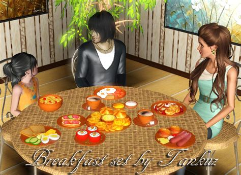 cuisine sims 3 food by tankuz custom content caboodle