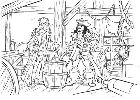 Pirates Of The Caribbean. Disney Coloring Page