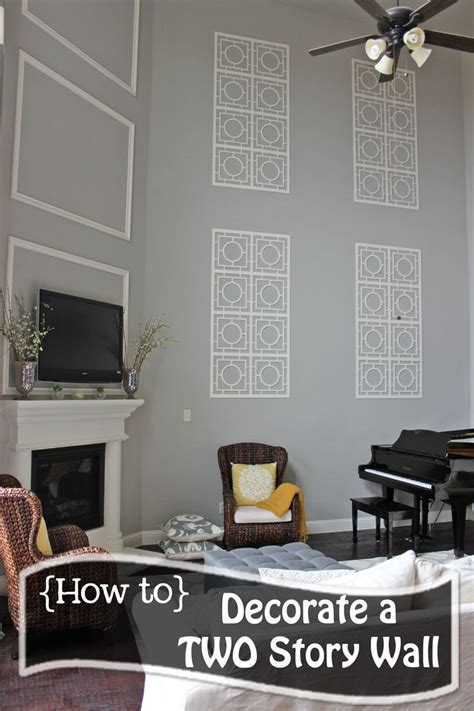 decorating tall walls ideas  pinterest
