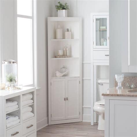 bathroom linen cabinet tower corner bath storage organizer