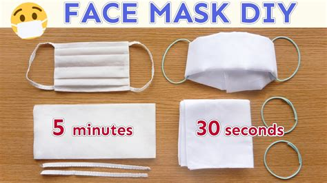 diy face mask  sew paper wipe mask handkerchief