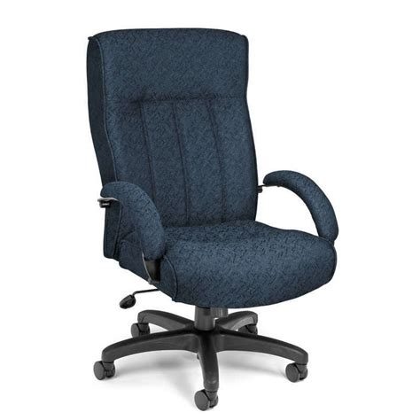 Office Chairs Big And by High Back Big And Blue Fabric Executive Office Chair