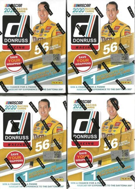 May 13, 2021 · sports trading cards have skyrocketed in value over the past year or so, creating a newfound interest among sports fans across the country. 2020 Donruss Racing NASCAR Trading Cards 2-blaster Boxes 4 Fat Packs Combo Set for sale online ...